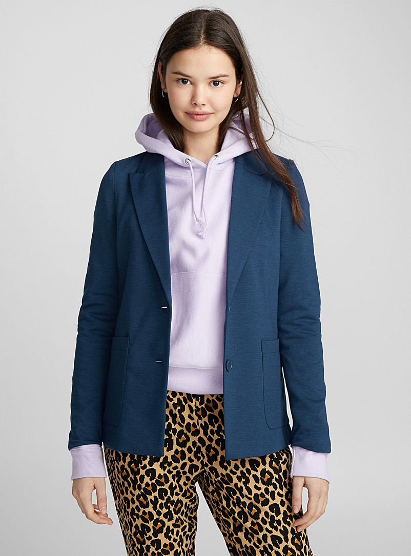 Two-button jersey jacket - Blazers - Baby Blue