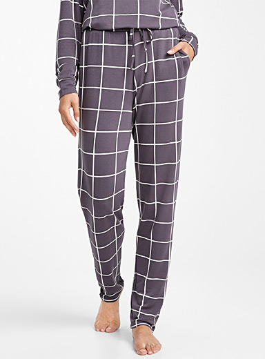 Windowpane check pant