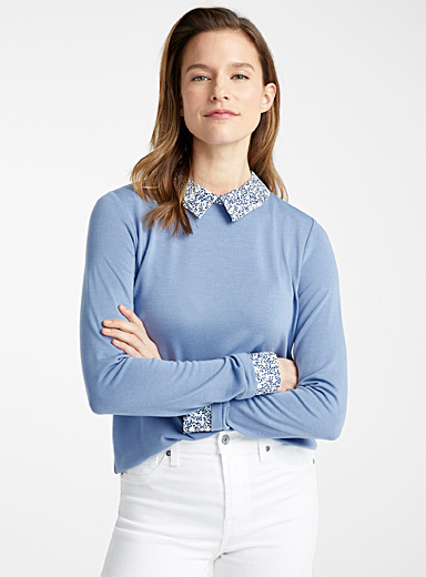 Le pull accents chemise