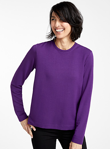 Contemporaine Purple Modal crew neck sweatshirt for women