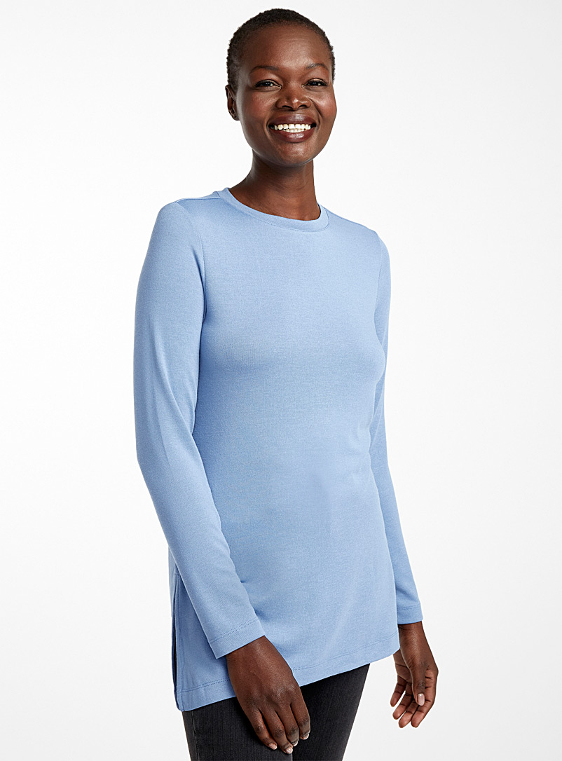 Contemporaine Blue Jersey knit tunic for women