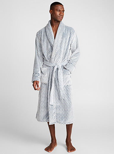 Zigzag plush robe