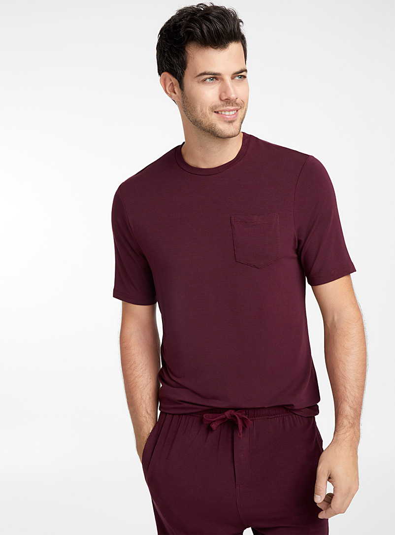 Fluid lounge T-shirt - Sleepwear & Leisurewear - Cherry Red
