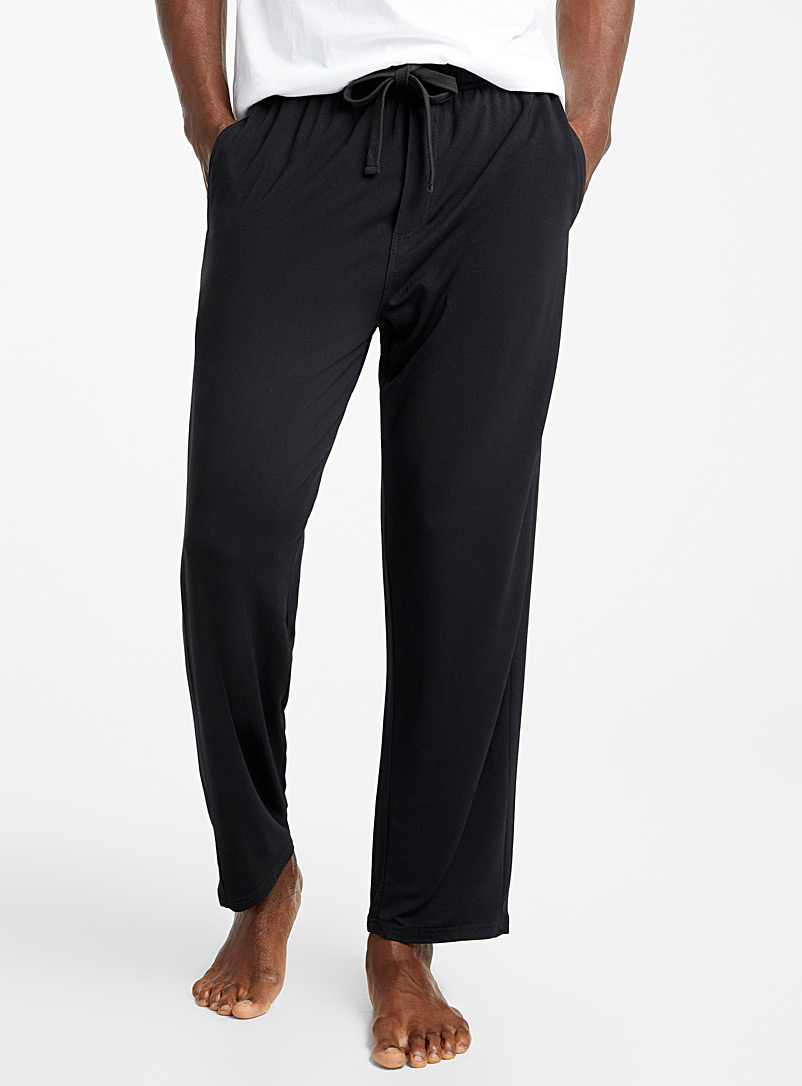 Le 31 Black Eco-friendly Modal lounge pant for men