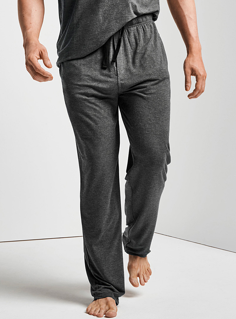 Le 31 Charcoal Modal lounge pant for men