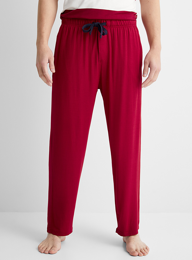 Le 31 Red Modal lounge pant for men