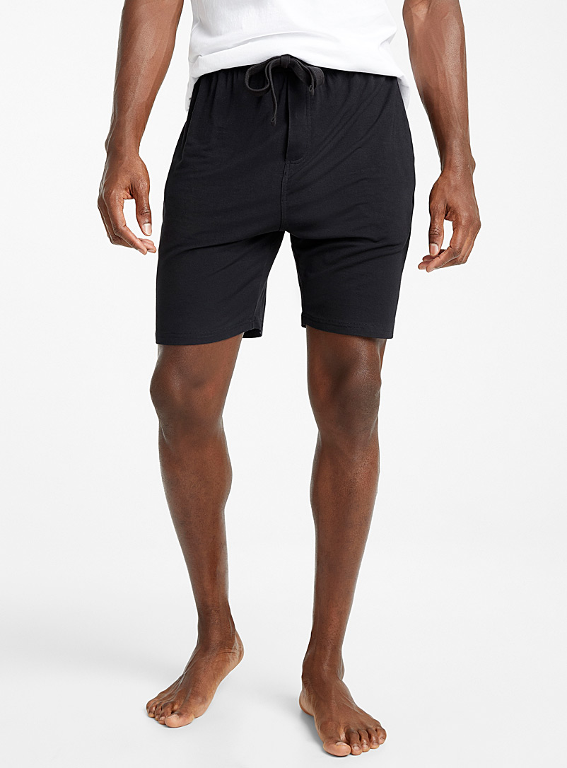 Le 31 Black Modal lounge Bermudas for men