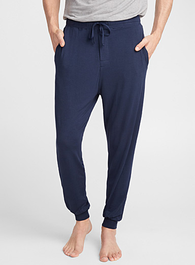 Le 31 Marine Blue Modal lounge joggers for men