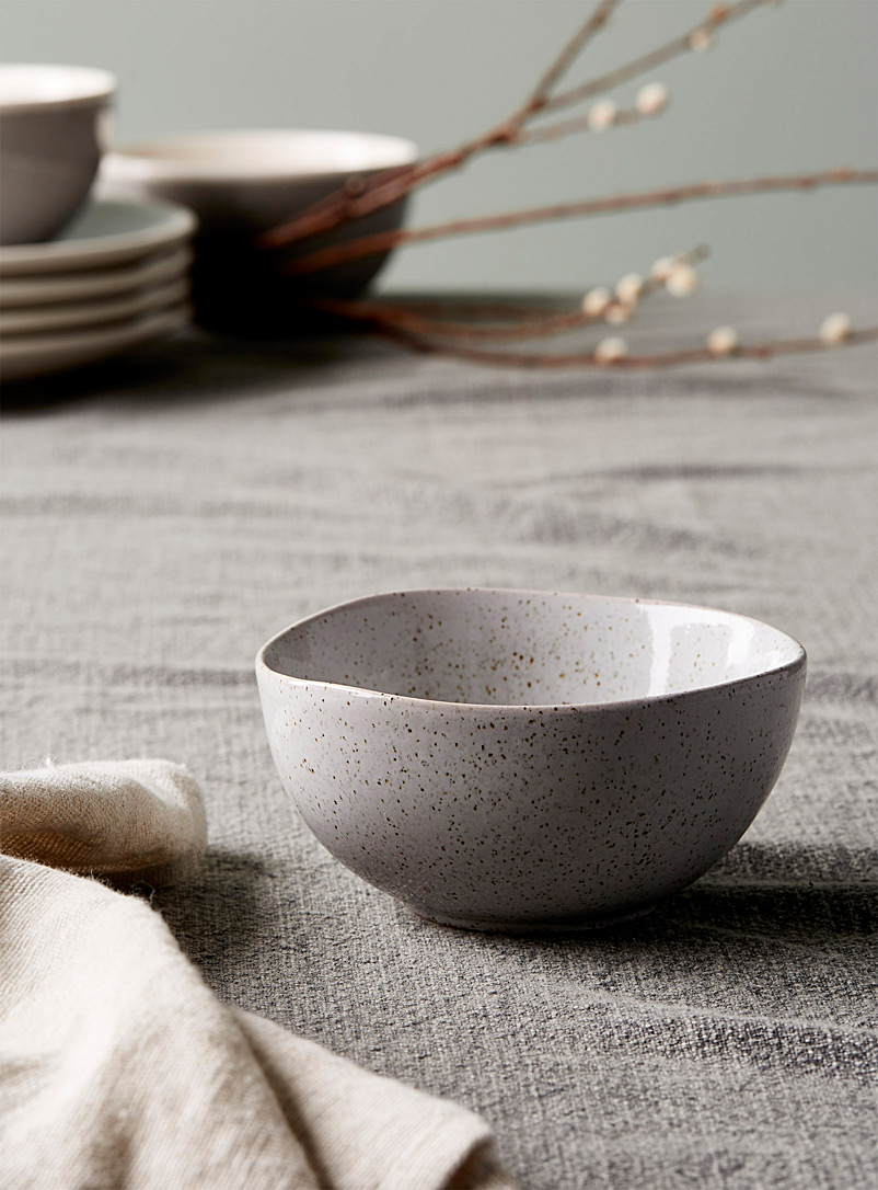Ladelle Patterned Grey Artisanal touch porcelain bowl