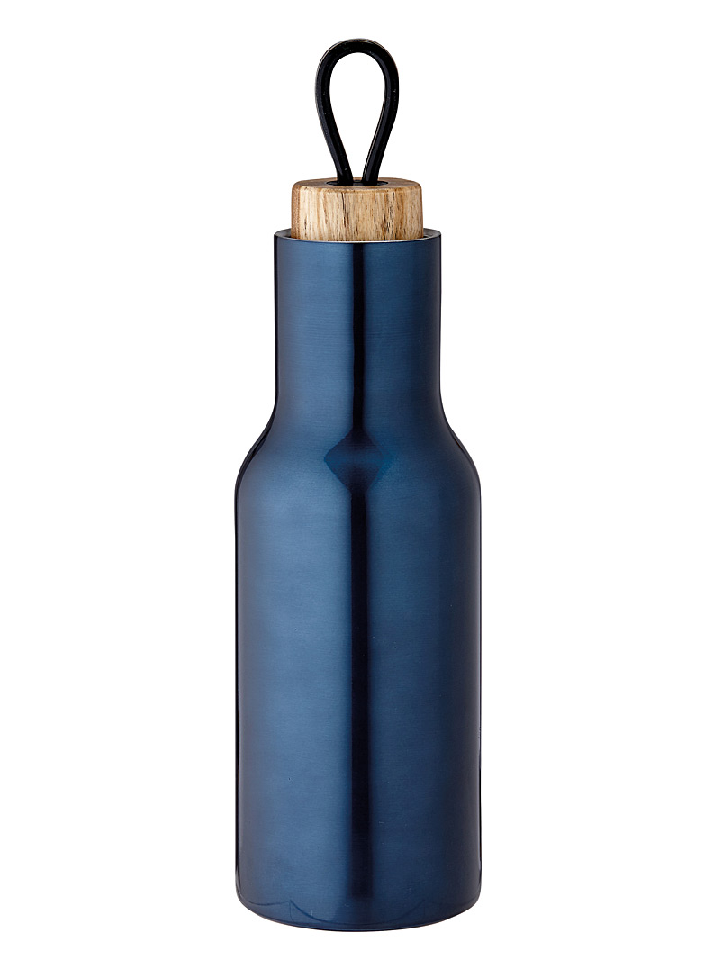 Ladelle Sapphire Blue Ocean blue metallic bottle