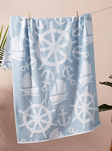 Little boat beach towel  90 x 160 cm