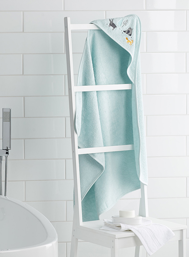 Simons Maison Baby Blue A walk in the woods bath cape