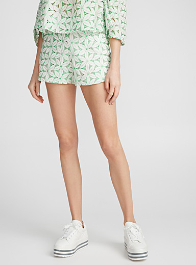 Floral combo shorts