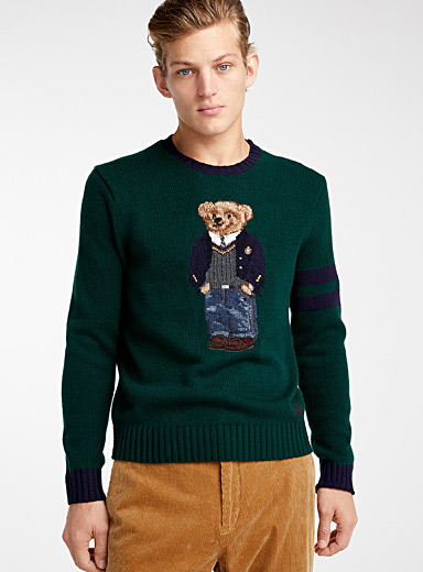 Preppy teddy bear sweater