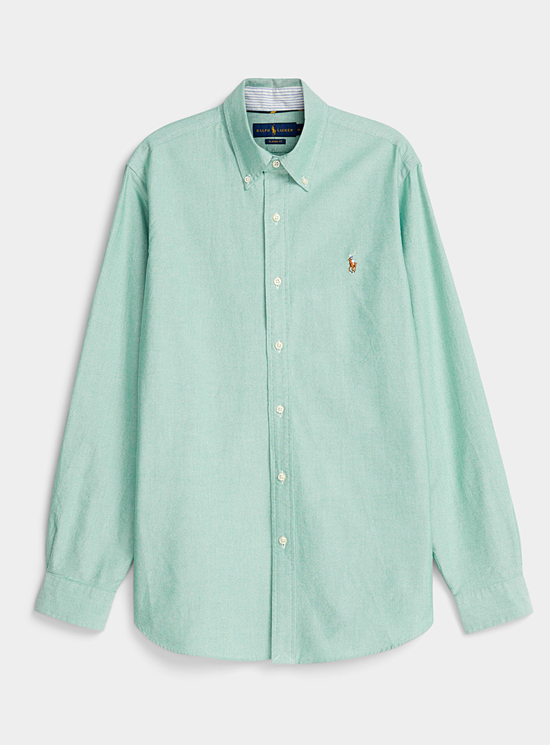 Polo Ralph Lauren Green Mint Oxford shirt  Comfort fit for men