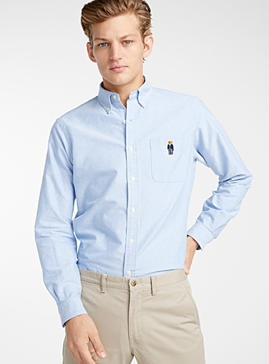 Preppy teddy bear Oxford shirt <br>Modern fit