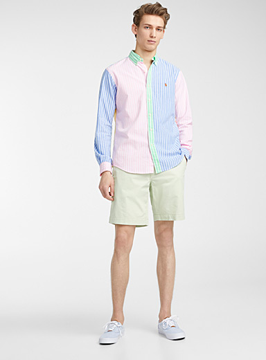 Block oxford stripe shirt  Comfort fit