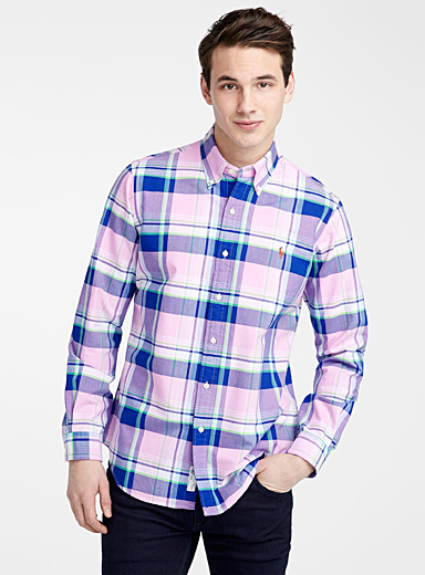 Pink check Oxford shirt  Regular fit