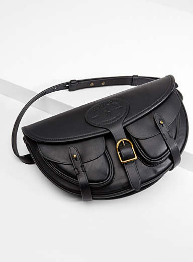 Leather Hutton convertible bag