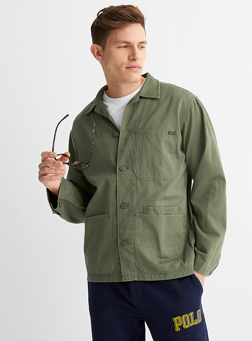 Polo Ralph Lauren Mossy Green Military-style overshirt for men