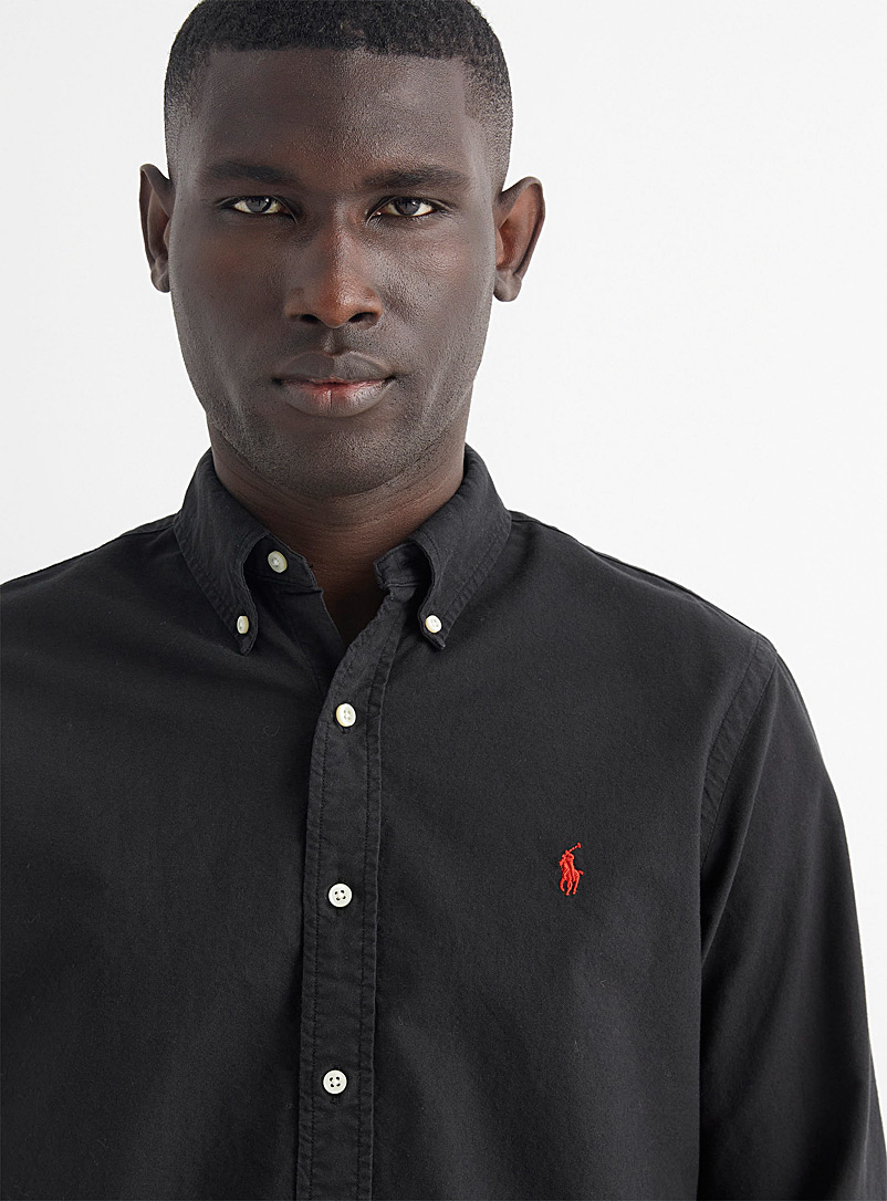 Polo Ralph Lauren Marine Blue Tinted Oxford shirt Comfort fit for men