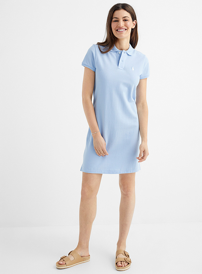 Polo Ralph Lauren Baby Blue Embroidered logo blue polo dress for women