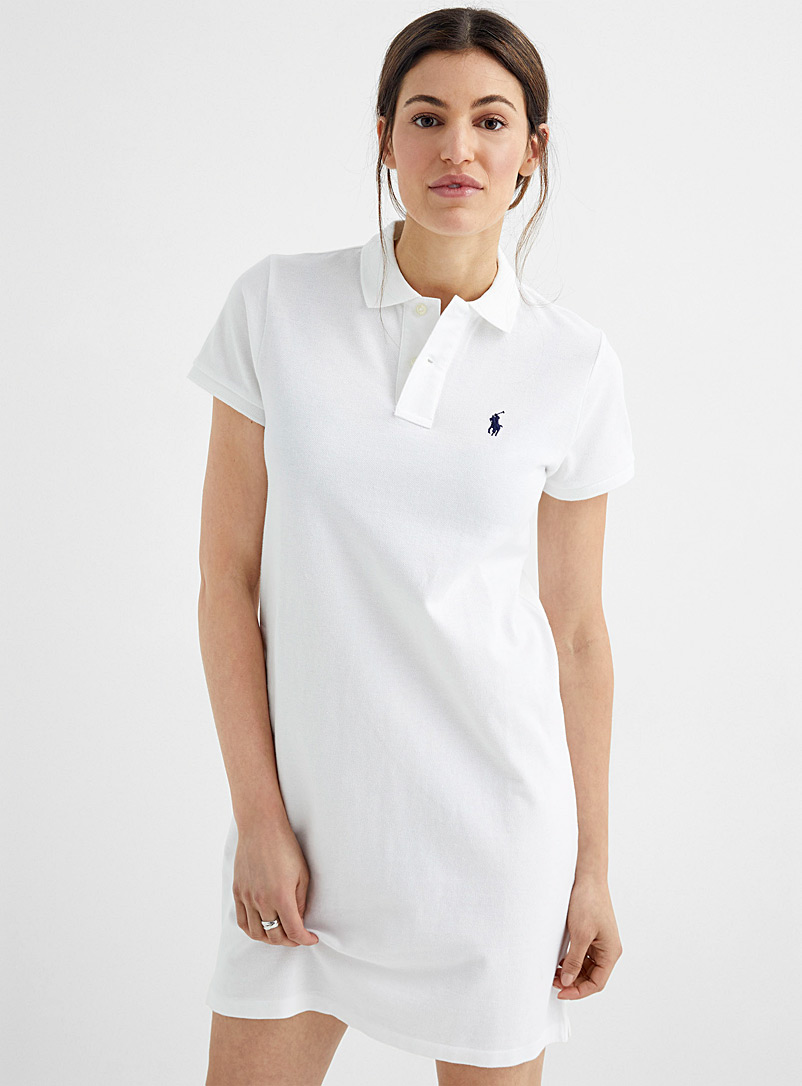 Polo Ralph Lauren White Embroidered logo white polo dress for women