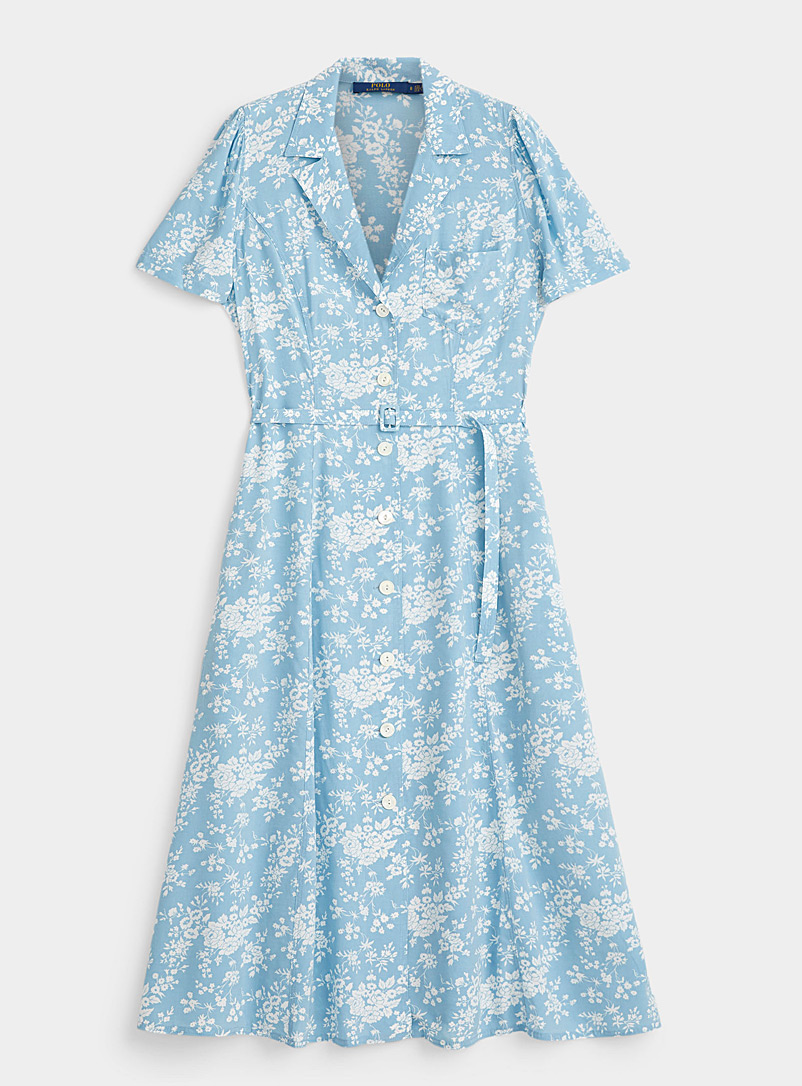 Polo Ralph Lauren Patterned Blue Soft floral shirtdress for women