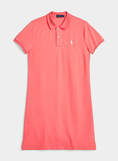 Polo Ralph Lauren Coral Logo embroidery coral polo dress for women