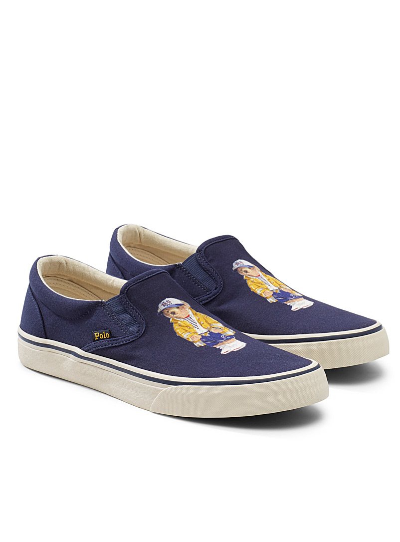 Polo Ralph Lauren Marine Blue Sailor teddy bear Thompson slip-ons  Men for men