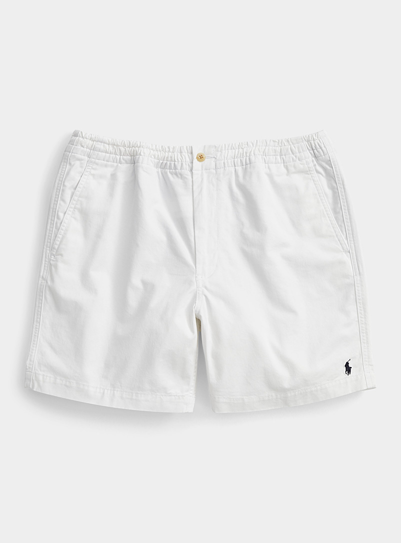 Polo Ralph Lauren White Comfort-waist solid chino short for men