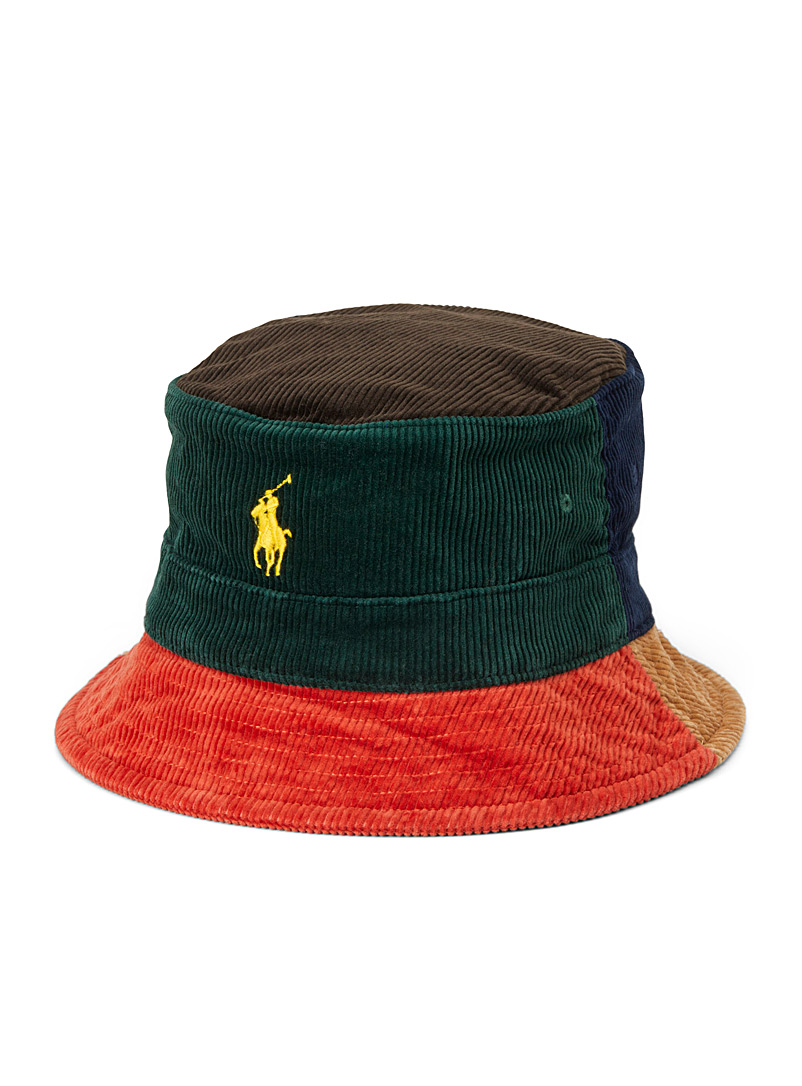 Patchwork corduroy bucket hat