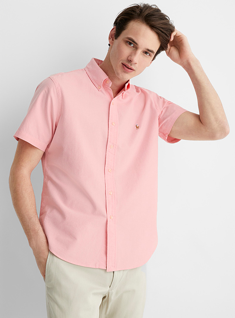 Polo Ralph Lauren Pink Polo short-sleeve Oxford shirt Comfort fit for men