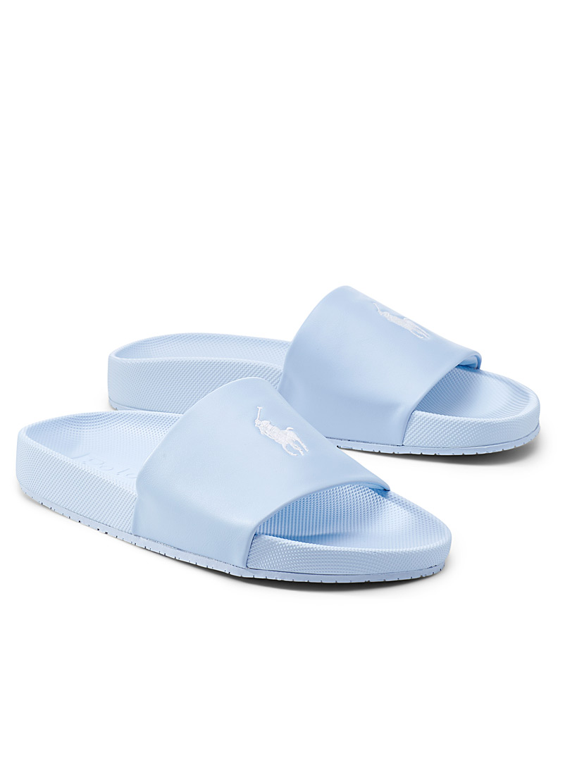 Polo Ralph Lauren Baby Blue Cayson pastel logo slide Men for men