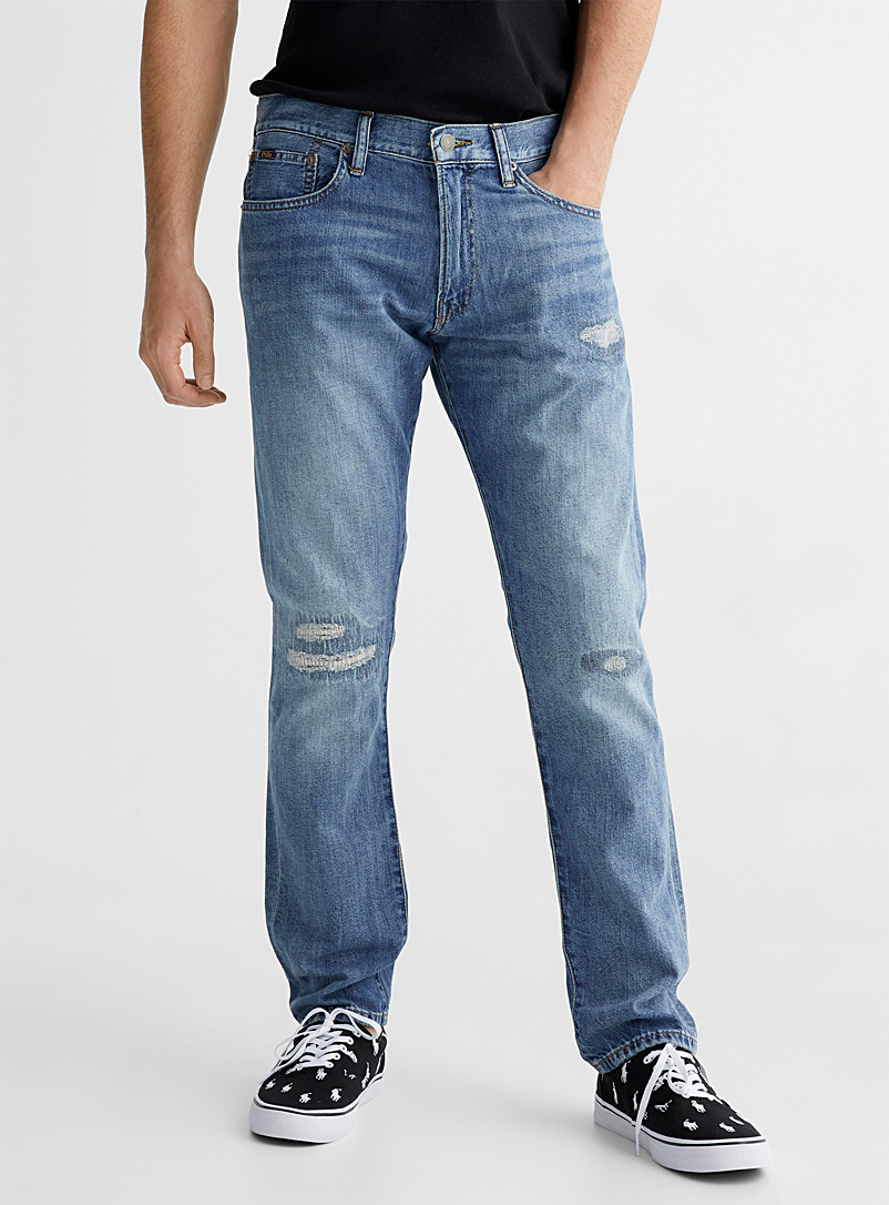 Polo Ralph Lauren Blue Sullivan distressed jean Slim fit for men
