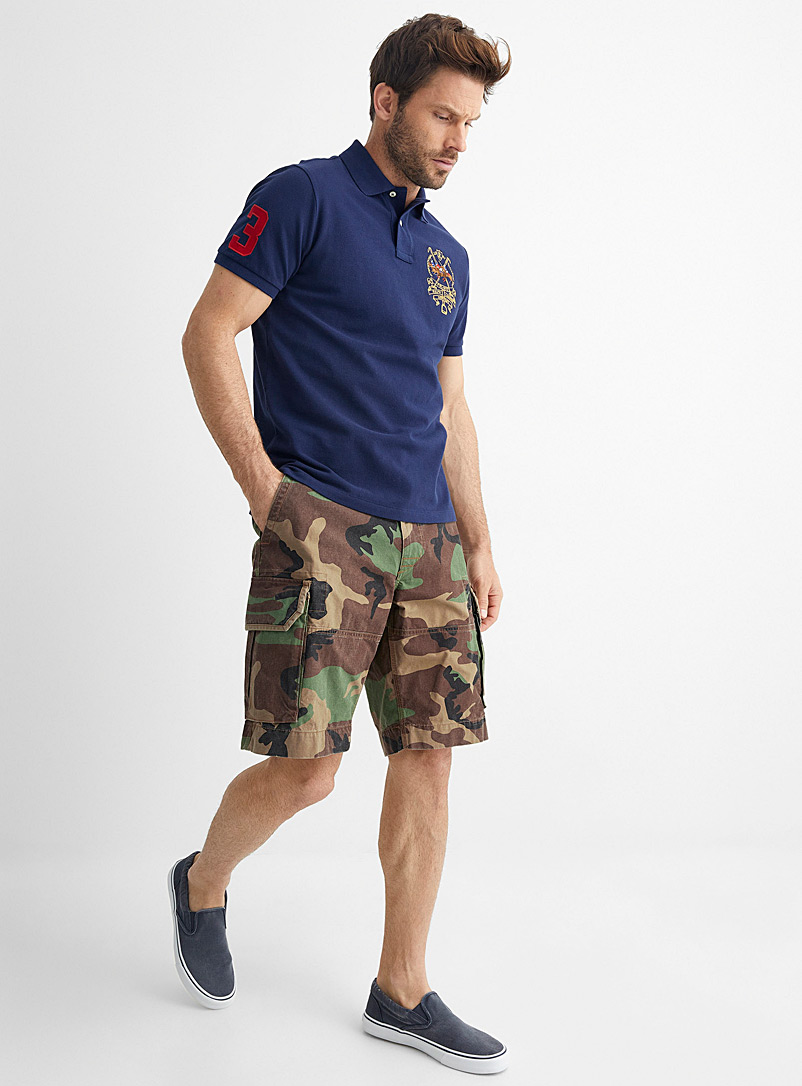 Polo Ralph Lauren Mossy Green Camo cargo Bermudas for men