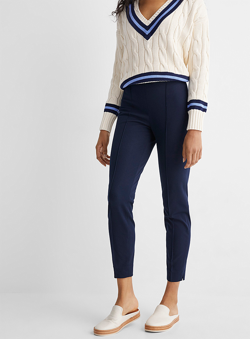 Polo Ralph Lauren Marine Blue Stretch fitted pant for women