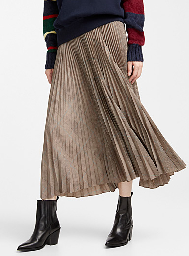 Prince of Wales pleated skirt