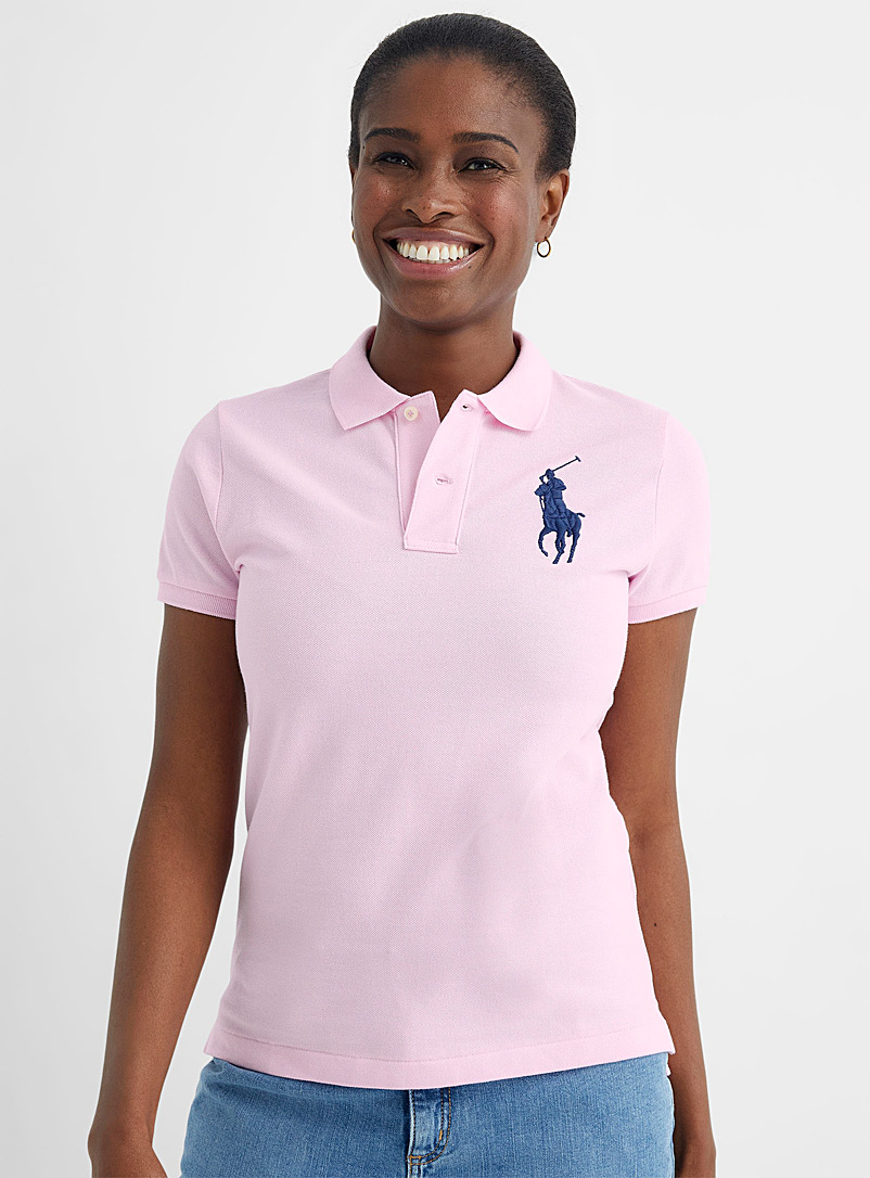 Polo Ralph Lauren Pink Accent embroidery pink polo for women
