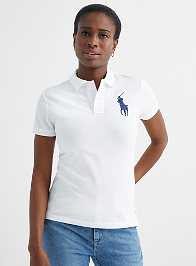 Le polo blanc broderie accent