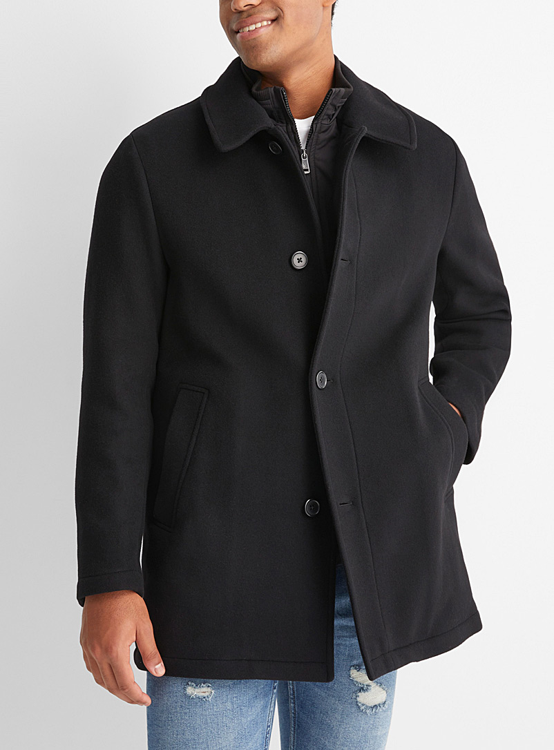 Le manteau lainage double col