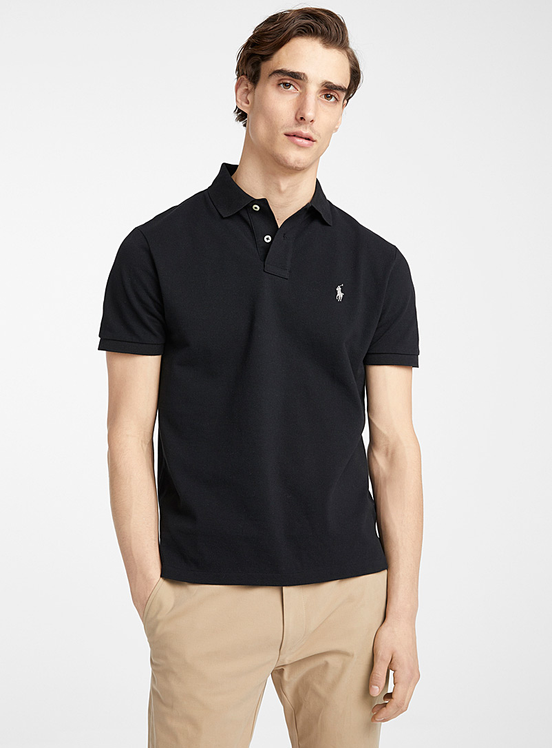 Polo Ralph Lauren Black Iconic piqué polo for men