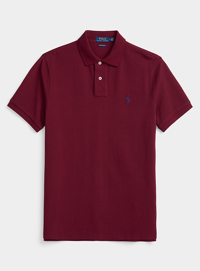 Polo Ralph Lauren Ruby Red Vintage iconic piqué polo for men