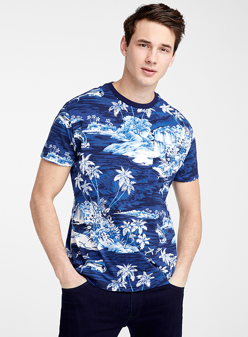 Polo Ralph Lauren Blue Blue lagoon pocket T-shirt for men