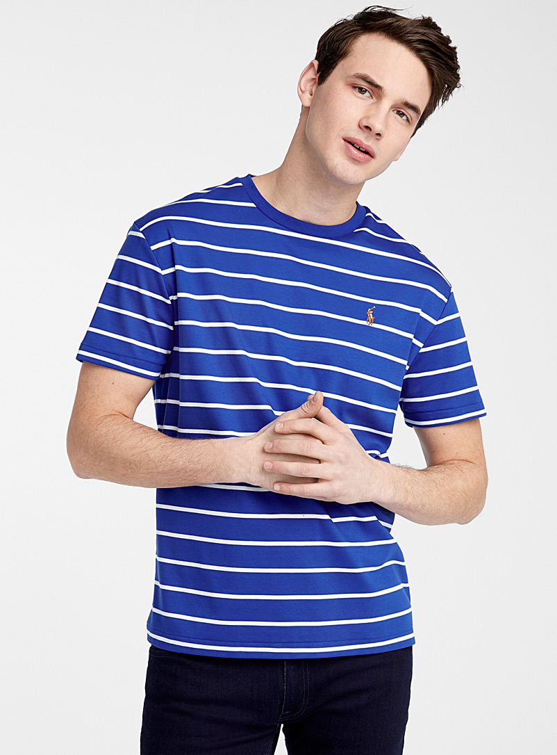 Polo Ralph Lauren Sapphire Blue Royal blue striped T-shirt for men