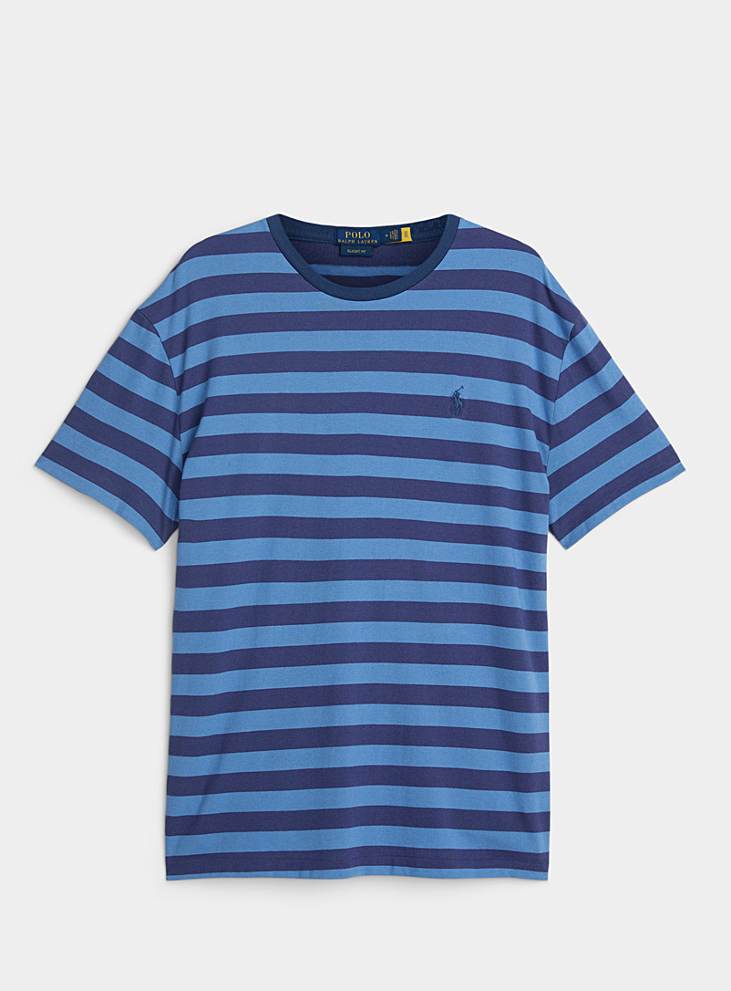 Polo Ralph Lauren Marine Blue Tone-on-tone stripe T-shirt for men