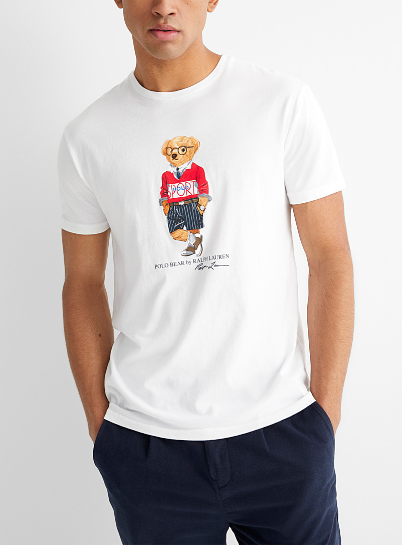 Polo Ralph Lauren White Preppy teddy bear T-shirt for men