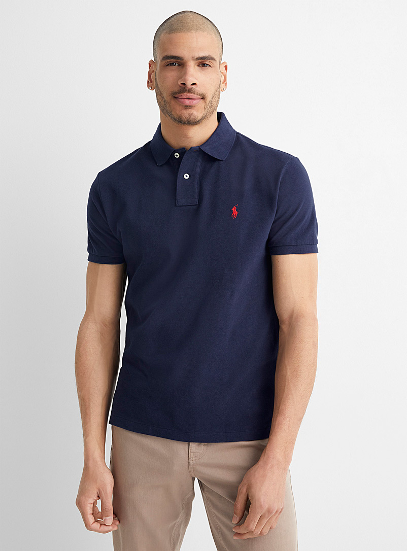 Polo Ralph Lauren Dark Blue Embroidered logo piqué polo for men