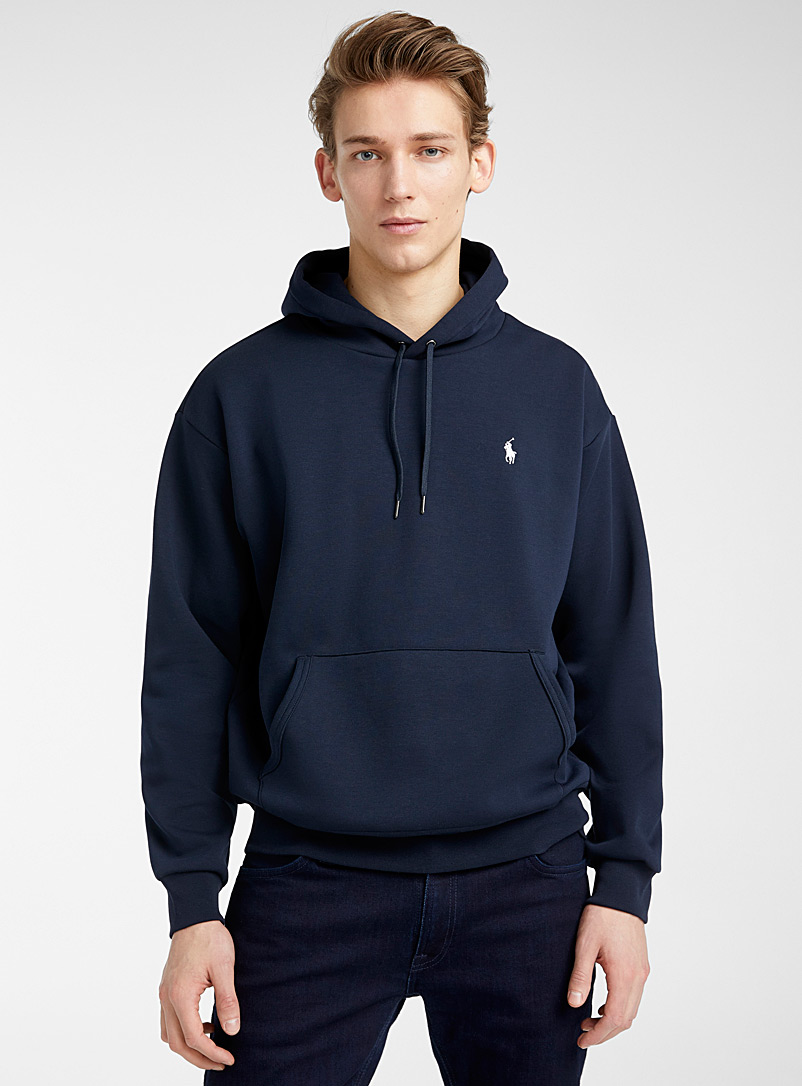 Polo Ralph Lauren Marine Blue Back logo hoodie for men