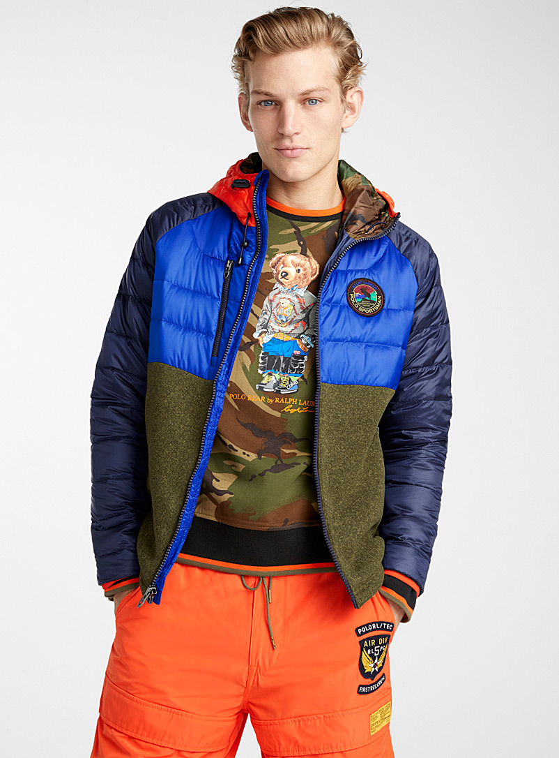 Sportsman mixed media jacket - Jackets & Vests - Assorted